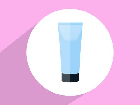 Cosmetic bottle  ,Flat design style photo