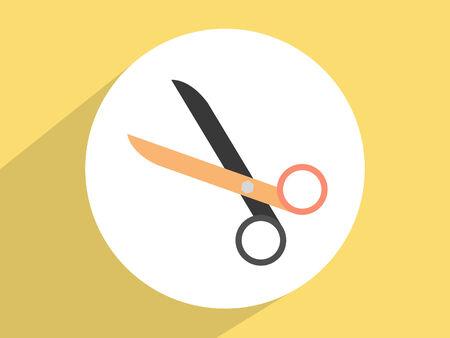 clip art cost: Scissors ,Flat design style