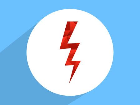 Lightning  ,Flat design style photo