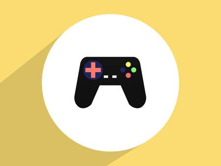 joy pad: Gamepad ,Flat design style