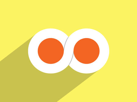 limitless: Limitless symbol ,Flat design style Stock Photo