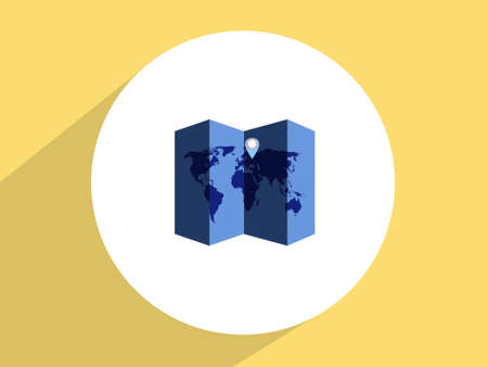 World map,Flat design style photo