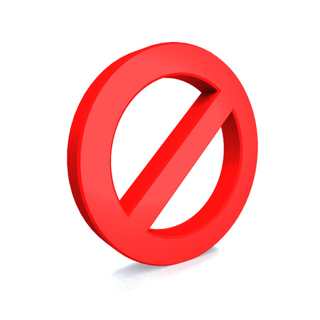 No Sign , isolated on white background