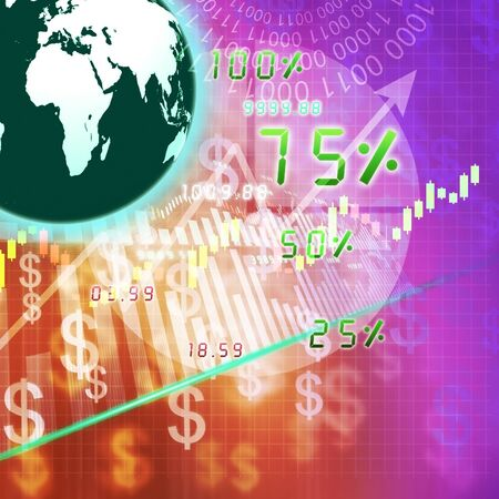 international monitoring: global stock market on abstract background