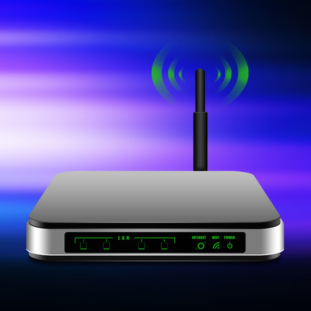 dsl: Wireless Router with the antenna illustration