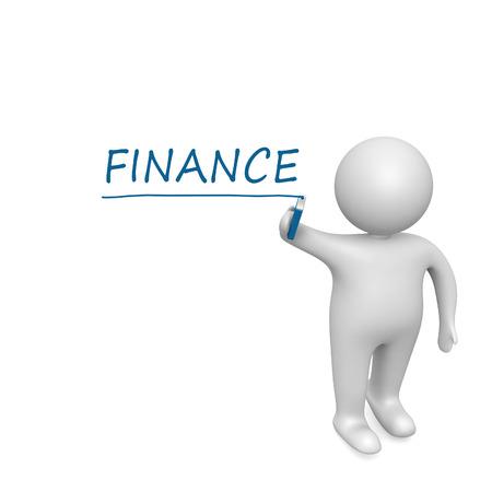 Finance   drawn by a white man photo
