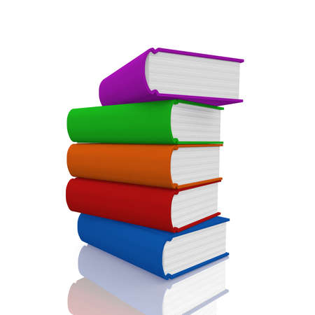 lexicon: Colorful  book on white background
