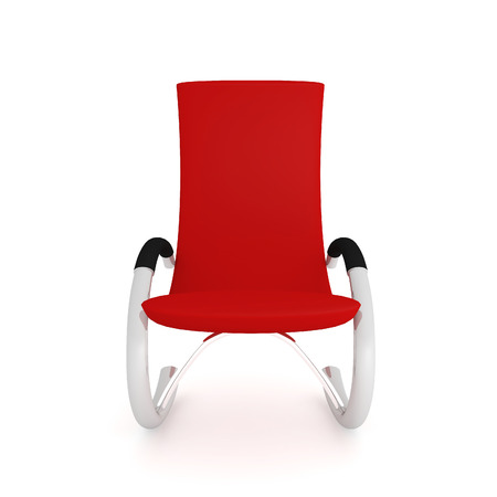 one of a kind: red chair isolated on white background