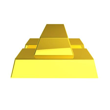 3d render of gold bar photo
