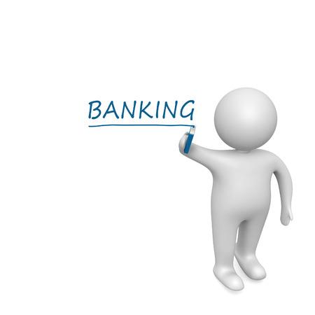 Banking  drawn by a white man photo