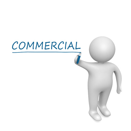 Commercial  drawn by a white man photo