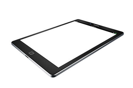 pda: tablet on white background,tablet  illustration Stock Photo