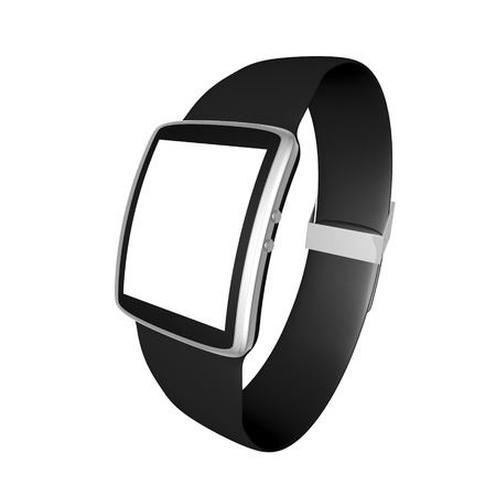 Smart watch isolated on white background photo