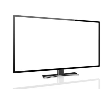 tv display: digital technology business concept: blank TV  display with empty screen isolated on white background