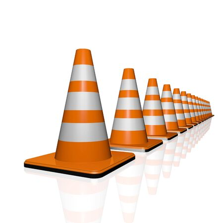autobahn: Traffic cones. road sign. icon isolated on white background Stock Photo