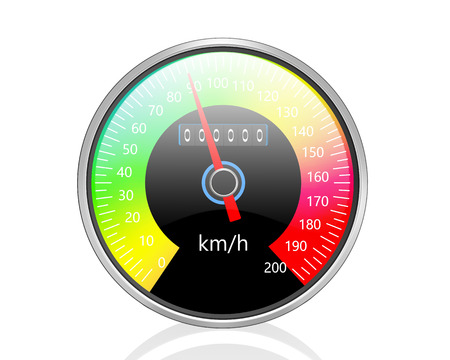 speedmeter: Speedometer  isolated on white background