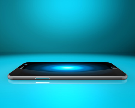 moble: Smartphone on abstract  background,cell phone illustration