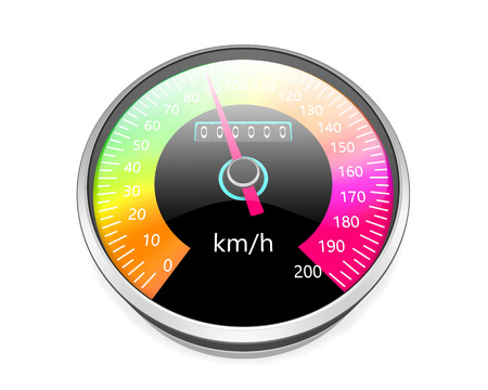 kph: Speedometer  isolated on white background