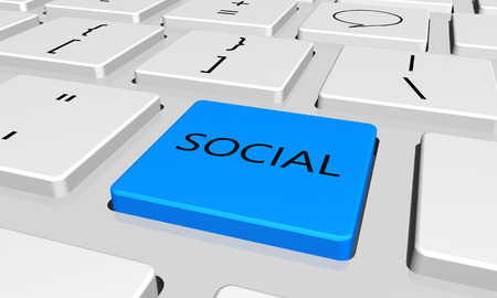 social  with word key or keyboard
