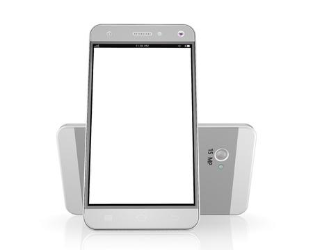 Mobile phone on white background,cell phone illustration
