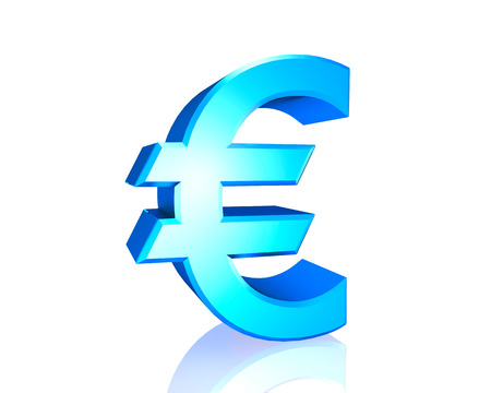 blue 3d euro  icons ,isolated on a white background
