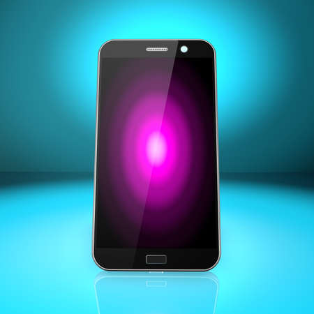 Smartphone on abstract  background,cell phone illustration