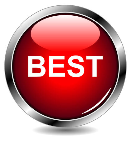 red vector button icon for websites