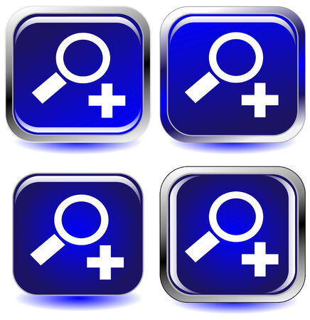 set of four blue icon buttons 矢量图像