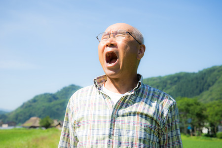 divergence: Senior Japanese in country living out loud, to let off steam