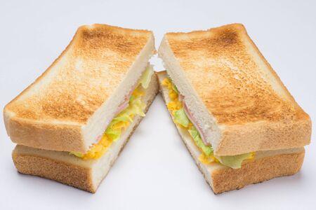 ホット サンドイッチ 写真素材