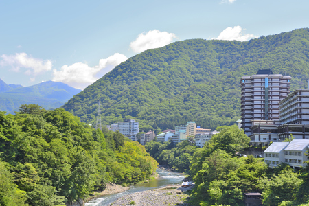 Kinugawa Onsen of Japan's tourist Stock fotó