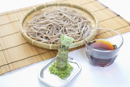 Fresh Wasabi mustard and buckwheat Reklamní fotografie