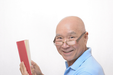 Japanese reading senior