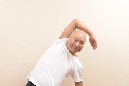 Japanese senior gymnastics Stock Photo