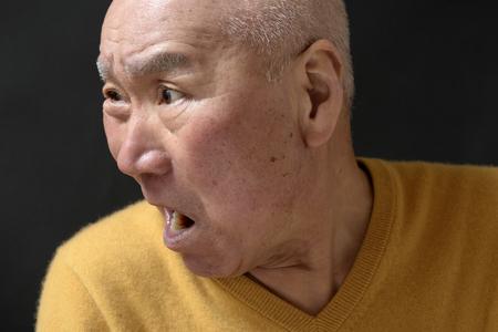 Senior enraged face Reklamní fotografie