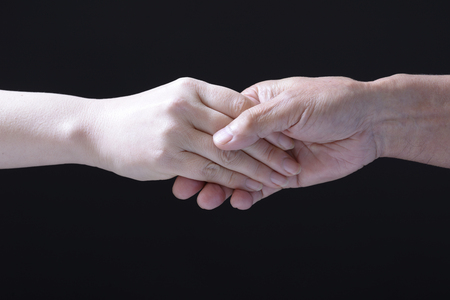Shaking hands between men and women 写真素材 - 97732034