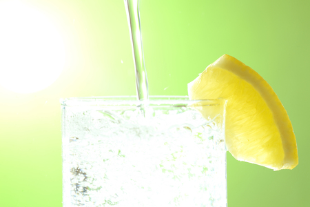 Summer image carbonated water