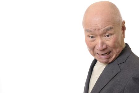 Angry businessmen senior