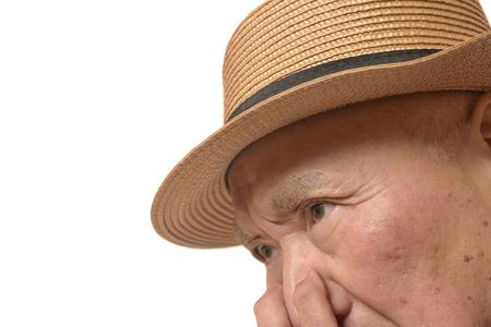 Troubled face of Japanese senior