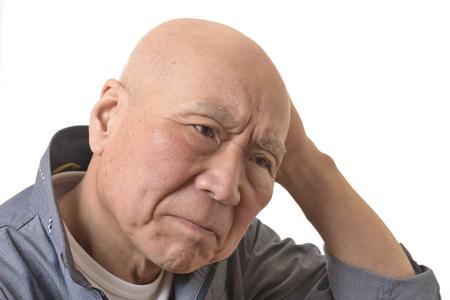 Senior troubles face 写真素材 - 117617093