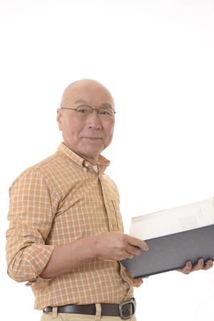 Smile to read Japanese senior