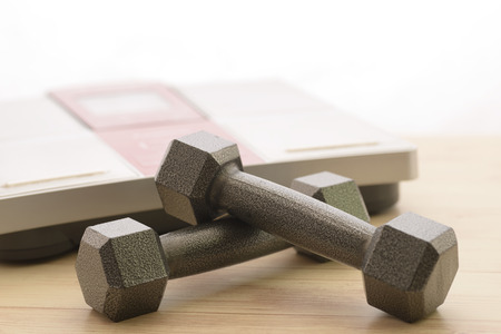 Dumbbell and weight scales