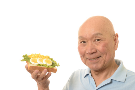 Eat bread with eggs, SR.