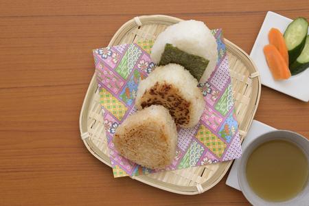 Japanese rice balls 写真素材