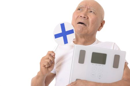 Japanese Senior with Scale