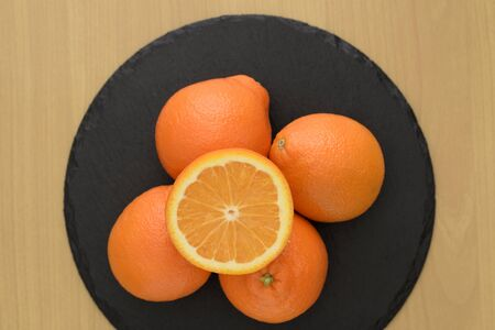 Mineola orange on a plate