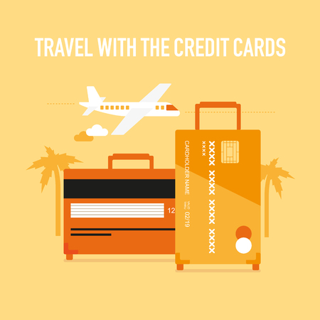 Travel with the credit cards Banco de Imagens - 64884335