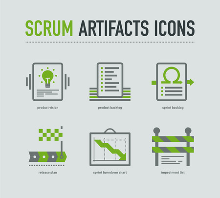 Scrum artifacts icons