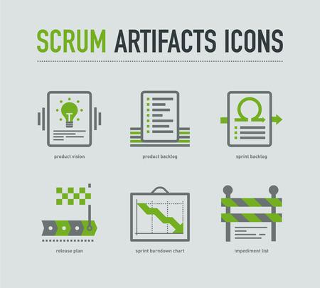 scrum: Scrum artifacts icons