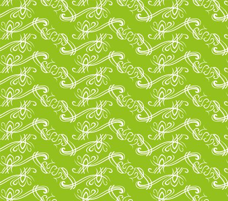 The green white ornate background Ilustração